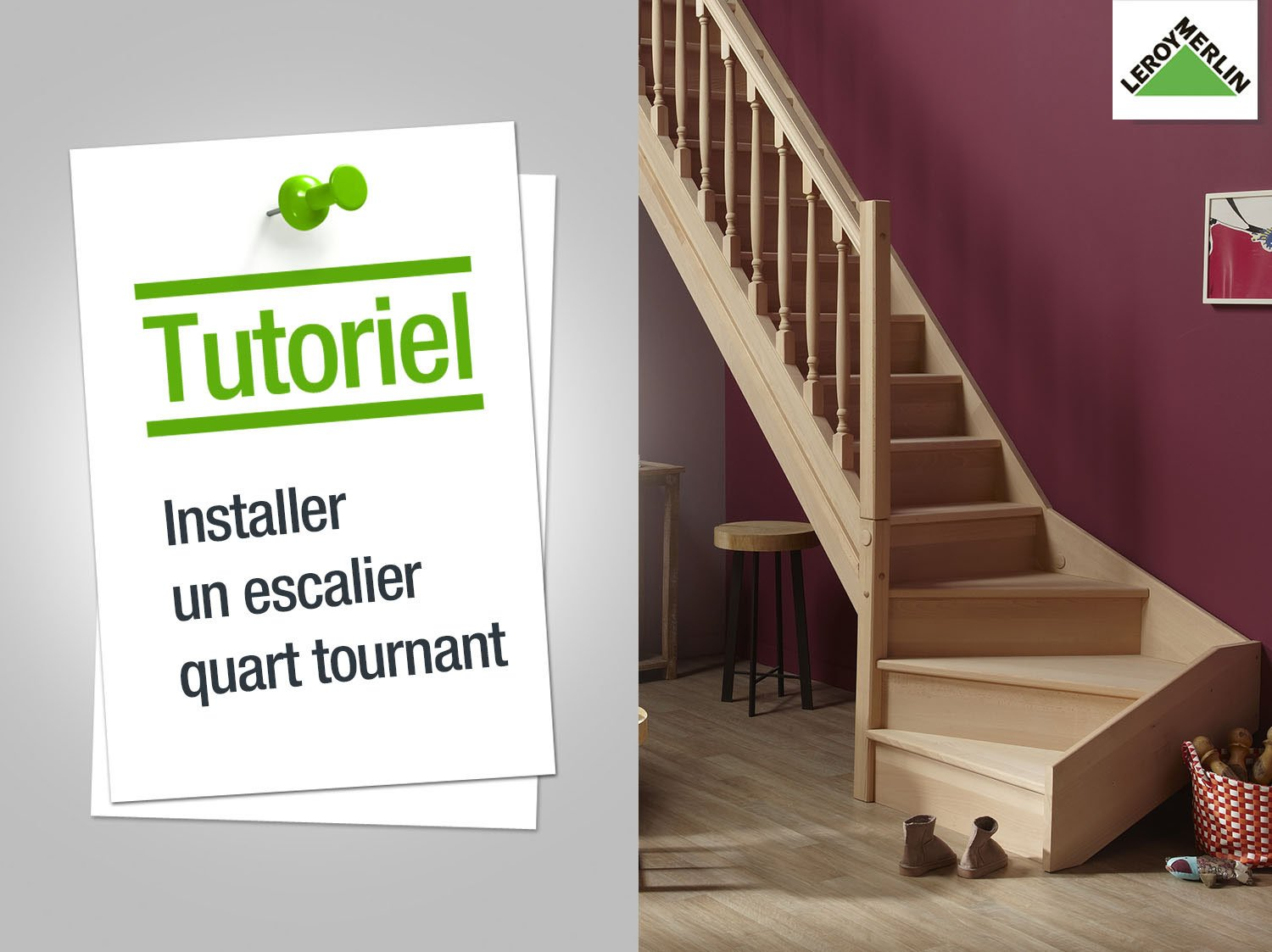 installer un escalier quart tournant